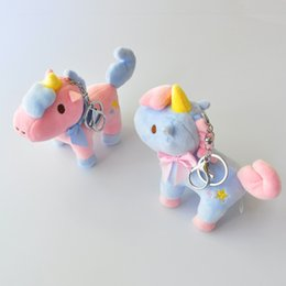 $enCountryForm.capitalKeyWord Australia - 2019 1pcs Boutique 11cm New super AYZ color Unicorn Plush pendant doll machine dolls Plush Keychains toys Girls Bag Car buckle