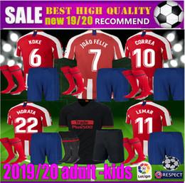 c7b17aea 19 20 adult kids Atletico de Madrid JOÃO FÉLIX Soccer Jerseys 2019 2020  LLORENTE JOAO FELIX SAUL camiseta de fútbol football kits shirt