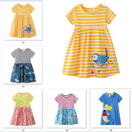 $enCountryForm.capitalKeyWord Australia - Girls Summer Dress with Animal Appliques European & American Style Princess Dress Floral Princess Dress Designer Children Cotton Clothes C32