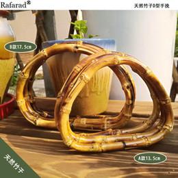 Shaped Handle Australia - D Shape Bamboo Purse Frame Bag Handle Strap Accessories Hanger Fashion Obag Handles China Online Shop Diy Handbag Bamboo Handles