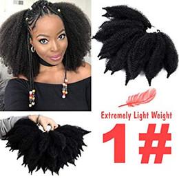 $enCountryForm.capitalKeyWord Australia - New Mali Bob Crochet Hair For Beauty Afro Kinky Marlybob Crochet Braids Hair Extension (#1B) Marlybob Crochet Braids Hair