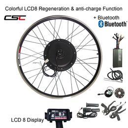 CSC E BICICLETA 48V 1500W MTB Kit eléctrico moto 20 24 26 27,5 28 29 pulgadas 700C kit de conversión frontal posterior de la bici de la rueda del cubo del motor con pantalla LCD en venta