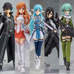 Toy Swords Wholesale NZ - Sword Art Online Lifelike Model Toy Kirigaya Kazutoyuuki Asuna Exquisite Cute Doll PVC Men And Women Fashion Present 50mp I1