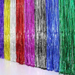 $enCountryForm.capitalKeyWord Australia - Beatiful Metallic Foil Curtain Wedding Decor Backdrop Foil Fringe Tinsel Shiny Backdrop Birthday Party Christmas Decoration H1