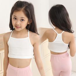 Toptan satış Çocuklar giysi tasarımcısı kızlar Tank Top pamuk çocuk Sling yelek 2019 Yaz Tees İç moda Butik Çocuk Giyim C6661