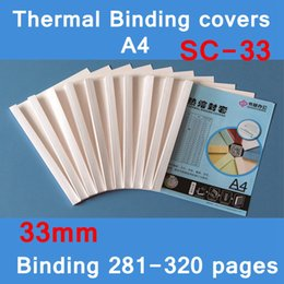 Discount bind machine - [ReadStar]10PCS LOT SC-33 thermal binding covers A4 Glue binding cover 33mm (280-320 pages) thermal machine cover