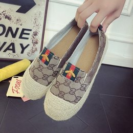 Spring Fall Canvas Shoes Australia - 2019 New Comfort Women espadrilles Patchwork Canvas Suede Geometric Weave Rope Ballet Flat Fisherman flats Shoes
