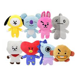 Tv cushions online shopping - 20cm Cute Bangtan Boys BTS bt21 stuffed animals Plush Toys TATA VAN COOKY CHIMMY SHOOKY KOYA RJ MANG Gift Pillow Cushion kids toys