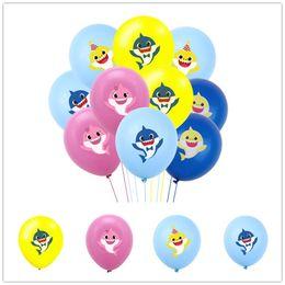 $enCountryForm.capitalKeyWord Australia - Cartoon Balloons Baby Shark Latex Inflatable Air Ball Kids Festival Happy Birthday Theme Party Wedding Decoration Suppy Gifts Toys C71104