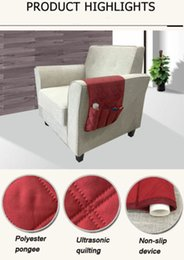 chair pockets 2019 - Armchair Sofa Chair Storage 5 Pocket Holder Remote Control Phone Couch Organizer cheap chair pockets