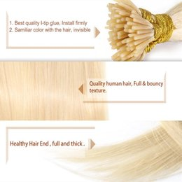 Top Quality Human Hair Extensions Australia - Human Remy hair Top Quality Stick I Tip in hair 0.5g st & 400st Lot pre-bonded hair extensions, free DHL