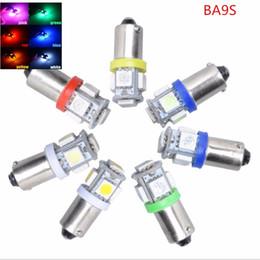 $enCountryForm.capitalKeyWord Australia - High Quality 50PCS Lot T11 BA9S 5050 5-SMD T4W 3886X H6W 363 LED Car light Source Signal Lamp 24V 12V Reading Bulb mix color