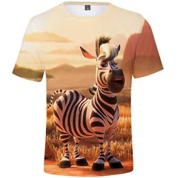 zebra tee NZ - Zebra t shirt Lily dicky cartoon short sleeve tops Earth popular music tee Colorfast photo gown Unisex all size clothing Print tshirt