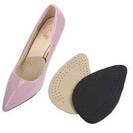 massage sandals UK - Leather Forefoot Pad Women High Heels Sandals Insert Half Yard Pad Massage Foot Care Shoes Insoles