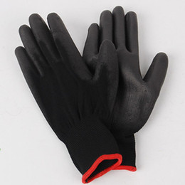 pu coated glove 2019 - 1 Pair PU Palm Coated Nylon Precision Protective Safety Work Gloves cheap pu coated glove