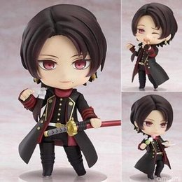 online dolls NZ - NEW hot 10cm Q version Touken Ranbu Online Kashuu Kiyomitsu movable action figure toys collection christmas toy doll with box