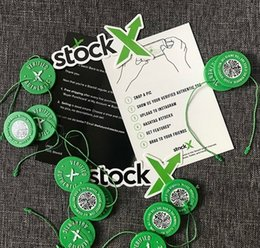 Wholesale payment for double box stock x tag dhl fee OG Sticker x QR x Card Green Circular Tag extra