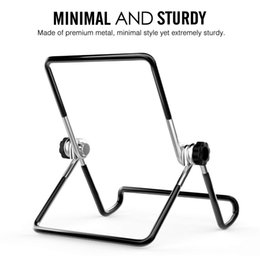 Foldable Desk Stand For Tablets Australia - Hot Portable Monitor Holder Metal Stand Desk Steel Non-slip Foldable Adjustable Folding Stand For iPad Display Air Mini Tablet