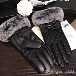plain cream NZ - 2020Rabbit fur sheepskin gloves for women, with extra fleece inside and extra large ball of wool, with good warmth preservation.Premium prod