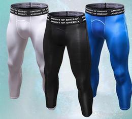 Novos homens correndo calças justas dos homens de treinamento de jogging leggins sportswear calças de compressão de basquete ginásio esporte roupas de fitness em Promoção