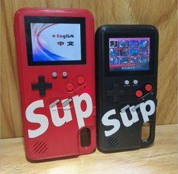 Iphone6 battery online shopping - Handheld Game Consoles Silica gel protective sleeve Mini Retro Mini Game Console phone case Rechargeable Color LCD For iphone6 plus XR XS