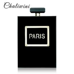 $enCountryForm.capitalKeyWord Australia - Hot Acrylic Perfume Women Casual Black Bottle Handbags Wallet Paris Party Toiletry Wedding Clutch Evening Bags Purses Handbags Y19061301