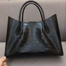 $enCountryForm.capitalKeyWord Australia - 2019 Latest Luxury Top Quality Genuine Crocodile Belly Skin Women Tote Handbag Big Size Top Handle Shop Bag With Zipper Closure