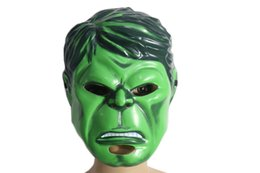 Wholesale hulk cosplay online – ideas Halloween Mask for Kid Adult The Hulk Cosplay Plastic Cartoon Masks Halloween Christmas Party Costume