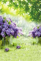 $enCountryForm.capitalKeyWord Australia - 5x7FT Green Grass Garden Tree Branch Bokeh Lavender Flowers Custom Photo Studio Backgrounds Backdrops Vinyl 150cm x 220cm