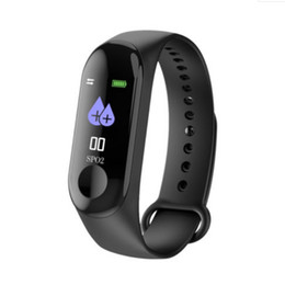 Chinese  M3 Smart Watch Bracelet Fitness Tracker with Heart Rate Bluetooth Watches MI 3 Wearable Technology XIAOMI APPLE Watch with Retail Box manufacturers