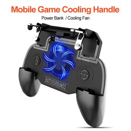 $enCountryForm.capitalKeyWord Australia - FOR PUBG Mobile Game Controller Gamepad Trigger Aim Button Shooter Joystick For iPhone Android Phone with Cooler Cooling Fan