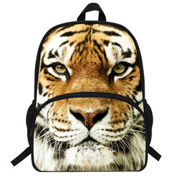Animal Head Backpacks Australia - 17-inch Animal Bag For Boys Girls School Bag White Tiger Head Backpack For Children Printing Tiger Backpack Kids