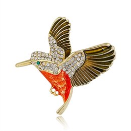 painting clothing UK - Exquisite Alloy Painting Oil Brooch Pin Scarf Clothing Decor Jewelry Accessory