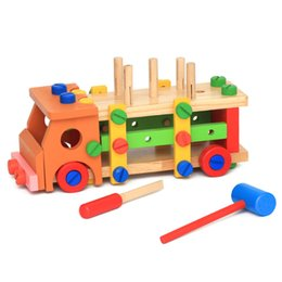 $enCountryForm.capitalKeyWord Australia - Healthy wooden toy Disassembly Nut car Multi-function removable screws car Chair repair tool sets Children DIY Assembling toys