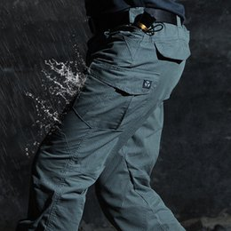 swat trousers NZ - Men's Waterproof Tactical Pants SWAT Special Army Combat Cargo Pants Multi Pocket Rip-Stop Long Trousers Plus Size 2XL