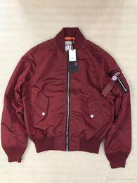 Smoking jacketS online shopping - Thick Warm SMOKE RISE MA1 Jacket Fashion Side Zip Design Ma Flight Zipper Jackets Autumn Winter Parkas Jackets