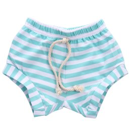 white baby girl bloomers UK - Infant Newborn Striped Shorts Baby Boy Girl Baggy Bloomers Bottoms PP Pants Summer Elastic Waist Diaper Cover 3M-4Y