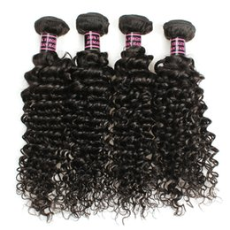 16 inch 1b hair Australia - 3 Bundles 8-28 inch Brazilian Virgin Remy Human Hair Loose Wave Deep Curly Body Wave Straight Color 1B Black J45