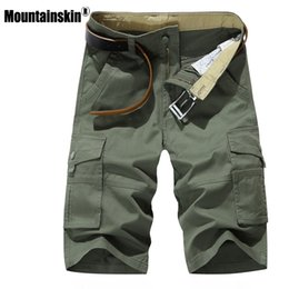 $enCountryForm.capitalKeyWord Canada - Mountainskin Men Summer Shorts Fashion Mens Military Knee Length Short Pockets Casual Business Short Beach Brand Clothing Sa450Q190330