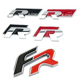 IbIza stIcker online shopping - Car body stickers D Metal FR R R Line Logo Car Rear Trunk Body Emblem Sticker Trim for Seat Ibiza Altea Leon