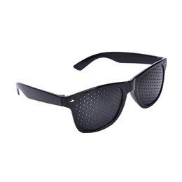 $enCountryForm.capitalKeyWord NZ - Anti-fatigue Stenopeic Eyeglasses Vision Care Eyesight Improver Pinhole Glasses Black Eye Care Relax Tool for Unisex Eyewear Exercise