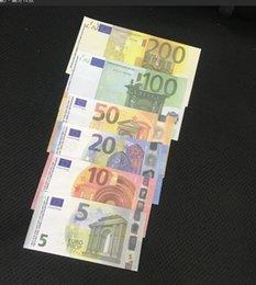 Vente en gros Prop Copie faux argent Kids Learning Toys outil pour films vidéo 5/10/20/50/100/200 Euro Sans hologramme