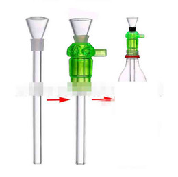 acrylic water glasses Australia - Newest Acrylic Glass Smoking Pipe Hookahs With Funnel Glass Bowl For Screw Bottle Water Bongs Tools Accessories