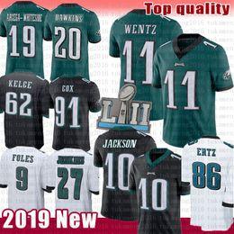 XXXl football jerseys online shopping - Philadelphia Jersey Eagles Carson Wentz DeSean Jackson Zach Ertz Brian Dawkins Foles JJ Arcega Whiteside Cox Jenkins Kelce