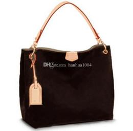 Full Saddle UK - 2018 new style high quality Genuine leather fashion women Grace Full Hand Tote Shoulder Bag