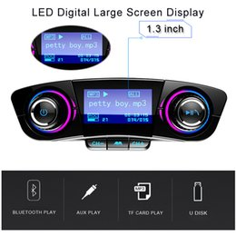 english audio music Australia - Bluetooth 5.0 Wireless FM Transmitter Modulator Handsfree Car Kit Power ONOFF 2.1A Fast Charge TF USB Music AUX Audio MP3 Player