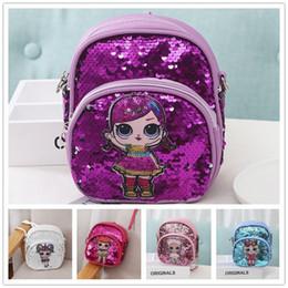 $enCountryForm.capitalKeyWord Australia - Ins Surprise Girls Mini Backpack Kids PU Seqiuns Shouder Bag Cartoon Princess Cross Body Satchel Baby Portable Handbags Coin Purse B71703