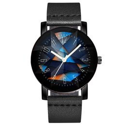 China fashion 2019 unisex mens women New sports watch concave surface diamond shaped abstract leather watch student couple wrist watch suppliers