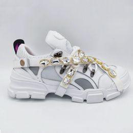 Flashtrek Sneaker mit abnehmbaren Kristallen Mens Luxury Brand Designer Sneakers Bergsteigen Freizeitschuhe Damen Outdoor Wanderschuhe