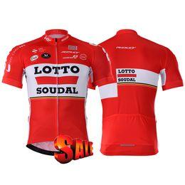 2019 hommes Racing ensembles de costume 2020 équipe vêtements cycliste loto maillot manches courtes Ciclismo Ropa Ciclismo hombre VTT jersey vélo + Cuissards en Solde